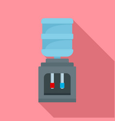 Office water filter bottle icon flat style vector