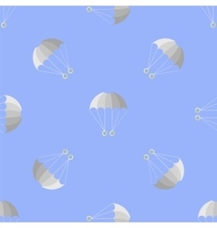 Parachute Seamless Pattern on Blue Sky vector image