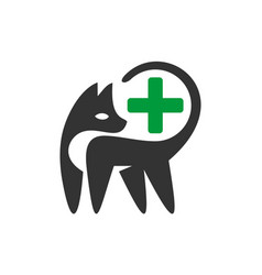 pets clinic medical logo icon vector image