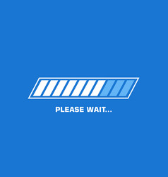 please wait flat icon graphic vector image