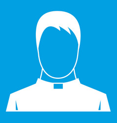 Priest icon white vector