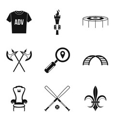 props for movie icons set simple style vector image