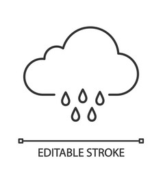 rainy weather linear icon vector image