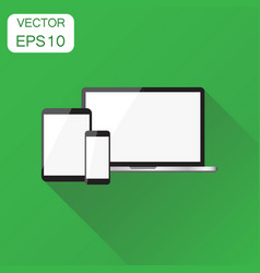 realistic device icon business concept smartphone vector image