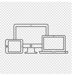 responsive devices icons vector image