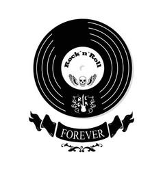 Rock n roll forever vinyl vector
