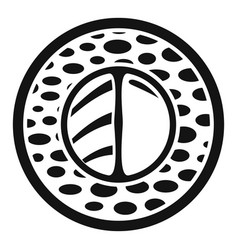 sake wasabi sushi icon simple style vector image