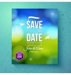 Save The Date wedding template for Spring Wedding vector image