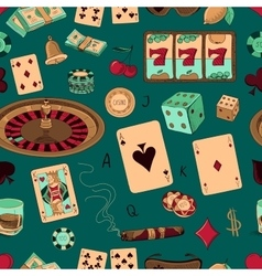 Seamless casino hand drawn pattern vector image