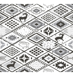Seamless navajo pattern with rhombus Pencil vector image