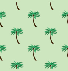 seamless pattern background with palm eps10 vector image