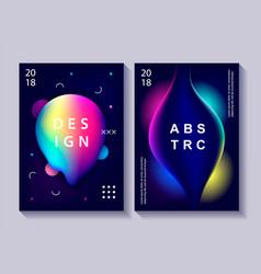 set creative design posters vector image