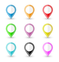 set of location pin icons vector image