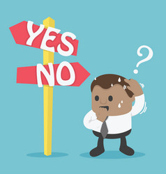 signs option yes or no vector image