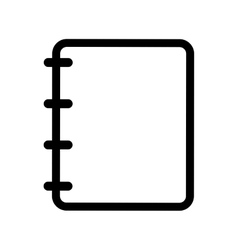 simple notepad icon image vector image
