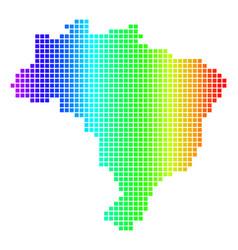 Spectrum dot brazil map vector