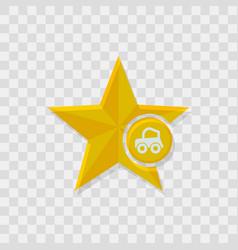 star icon car icon vector image