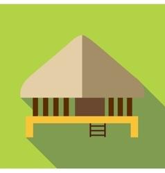 Stilt house icon flat style vector