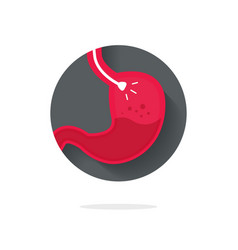 Stomach endoscopy icon flat endoscope vector