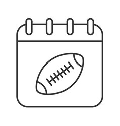 super bowl date linear icon vector image