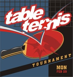 table tennis logo poster vector image