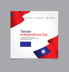 Taiwan independence day celebration template vector