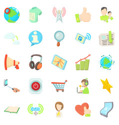 Tinkle icons set cartoon style vector