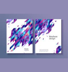 trendy vibrant gradient report cover vector image