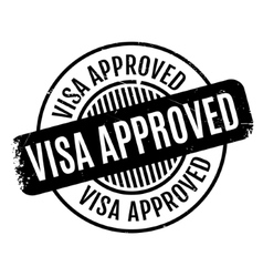Visa Approved rubber stamp vector