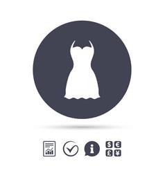 woman dress sign icon elegant clothes symbol vector image