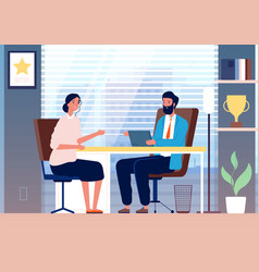 woman interview female business girl employment vector image