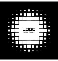 Abstract White Halftone Logo Design Element vector image