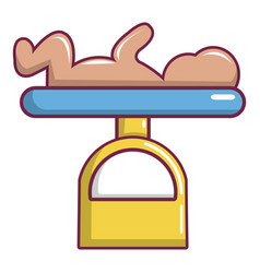 Baby weight icon cartoon style vector