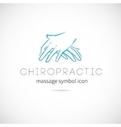 Chiropractic Massage Concept Icon Symbol or Label vector image vector image