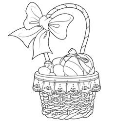 Easter basket vector