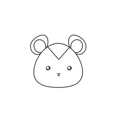 hamster drawing face vector image