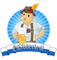 Oktoberfest Bavarian Oktoberfest Bavarian Label w vector image