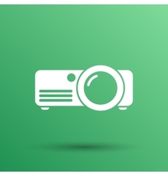 projector icon Rounded squares button vector image