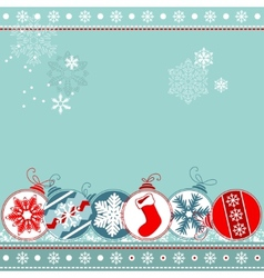 blue christmas background with balls vector image vector image