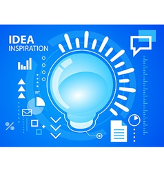 bright light bubble on blue background for b vector image
