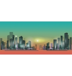 City panorama at sunset vector image vector image