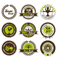farm fresh label set vector image