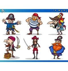 Pirates Cartoon Characters Set vector image vector image