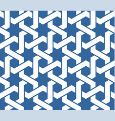 seamless blue arabic ornament with twined lines vector image vector image