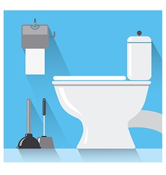 toilet room vector image vector image