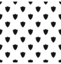 Black shield pattern simple style vector image