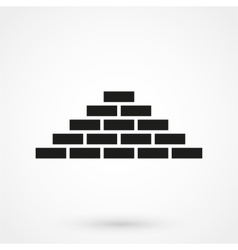 bricks icon black on white background vector image