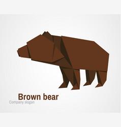 orvhami logo with brown bear vector image vector image