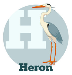 abc cartoon heron vector image vector image