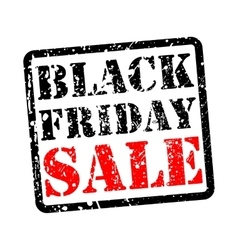 Black friday sale grunge vector image